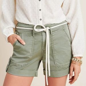 NWT Anthropologie Olive High Rise Cargo Shorts